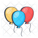 Celebration Balloons Party Time Balloons Decorations Icon
