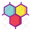 Atom Bond Cells Icon