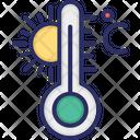 Celsius Temperature Termometer Icon