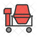 Cement Mixing Roller Icon