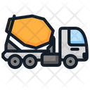 Cement Mixer Truck Transportation Icon