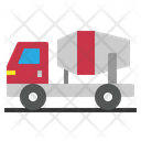 Cement Truck Mixer Icon