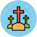 Cemetary Funeral Grave Icon