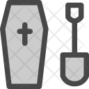 Cemetary Gravecoffin Cross Icon