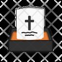 Cemetery Tombstone Halloween Icon