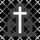 Cemetery Tombstone Cross Icon