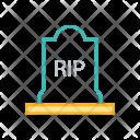 Cemetery Death Rip Icon