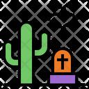 Cemetery Halloween Terror Icon