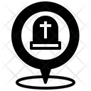 Cemetery Location Map Icon