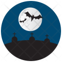 Cemetery Bats Night Icon