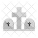 Cemetery Funeral Grave Icon