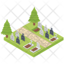Graveyard Cemetery Death Place Icon