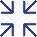 Center Arrow Minimize Icon