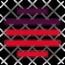 Center Justify Align Icon