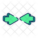 Center Meeting Point Arrow Icon