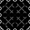 Center Horizontal Border Icon