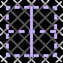 Center Border Table Icon