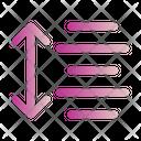 Text Spacing Center Icon