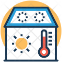 House Temperature Symbol Icon