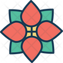 Central flower Icon