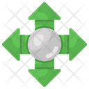 Topology Central Network Intersection Icon