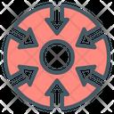 Centralization Icon