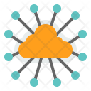 Centralized Cloud Data Icon