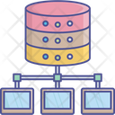 Centralized Database Content Server Database Management System Icon