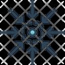 Centre Point Arrow Icon