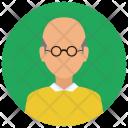 Elderly Man Avatar Icon
