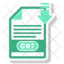 Cer File Format Icon