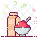 Cereal Maze Diet Food Icon