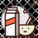 Cereal Cornflicks Milk Icon
