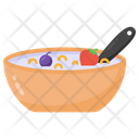 Breakfast Cereal Food Bowl Icon