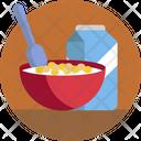 Food Cereals Milk Icon