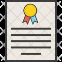 Certificate Merit Secure Icon