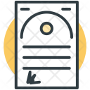 Certificate Diploma Deed Icon