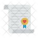 Certificate Marriage Wedding Icon