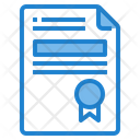Certificate Award Document Icon