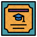 Certificate Graduation Document Icon