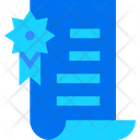 Certificate Approved Certificate Page Icon