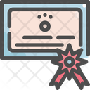 Certificate Pet Shop Icon