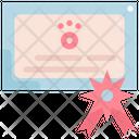 Certificate Pet Shop Icon