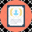 Certificate Diploma Degree Icon
