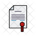 Certificate Contract Seal Icon