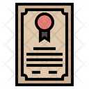 Certificate Achievement Award Icon