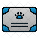 Certificate Pet Animal Icon