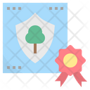 Certificate Forest Preservation Icon