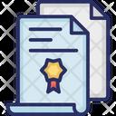 Certificate Paper Divorce Certificate Icon