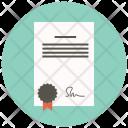 Certificate Contract Degree Icon